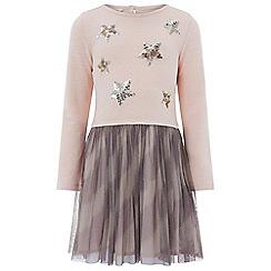 Monsoon - Girls' pink 'Starlight' 2 in 1 dress