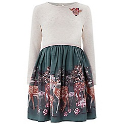 Monsoon - Green 'Darla' deer 2in1 dress