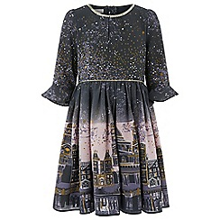 Monsoon - Girls' grey 'Stargaze' ombre dress