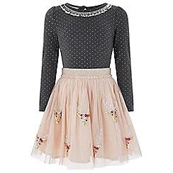 Monsoon - Brown 'disco' reindeer dress