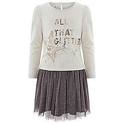 Monsoon - Girls' brown 'Giselle' Top and Skirt Set