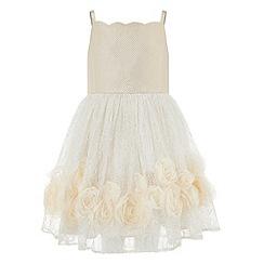 Monsoon - Girls' gold renee rose dress