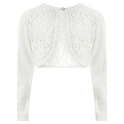 Monsoon - Girls' white primrose cardigan