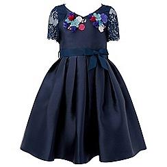 Monsoon - Girls' blue 'Iris' Duchess flower dress