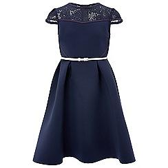 Monsoon - Girls' blue Jasmine Scuba dress