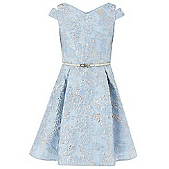 Monsoon - Girls' blue 'trinity' jacquard dress