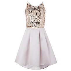 Monsoon - Girls' pink 'beatrix' sequin dress