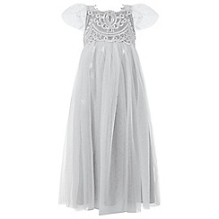 Monsoon - Girls' grey 'darcie' maxi dress
