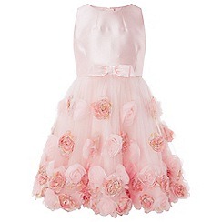 Monsoon - Girls' pink 'rosianna' bow dress