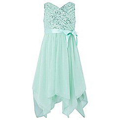 Monsoon - Girls' green Laurentia' sequin dress