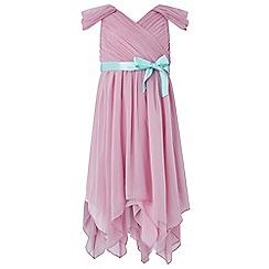 Monsoon - Girls' pink Laurentia' beaded dress