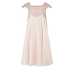 Monsoon - Girls' pink estella sparkle dress