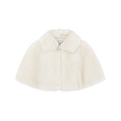 Monsoon - Girls' white 'Evie' fur cape