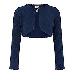Monsoon - Girls' blue 'Niamh' cardigan