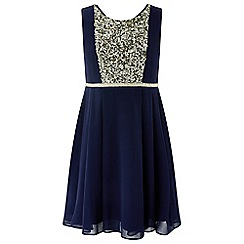 Monsoon - Girls' blue 'Larissa' sequin dress