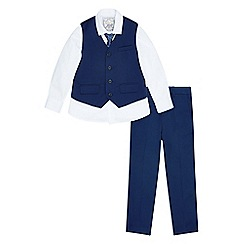 Monsoon - Boys' blue Kasper' 4 piece suit set