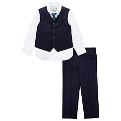 Monsoon - Boys' navy 'Christopher' 4 piece suit set