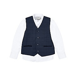 Monsoon - Boys' blue 'Harrison' waistcoat and shirt set