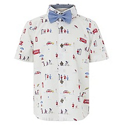 Monsoon - Boys' white ruben shirt