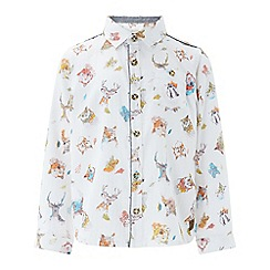 Monsoon - Boys' multicoloured 'Ryan' woodland long sleeved shirt