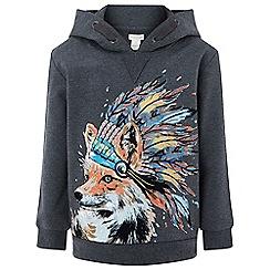 Monsoon - Boys' blue Fred' fox hoody