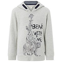 Monsoon - Boys' brown 'Bear With Me' hoody