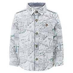 Monsoon - Boys' white 'Logan' London long sleeved shirt