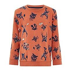 Monsoon - Boys' orange Rylan Sweater