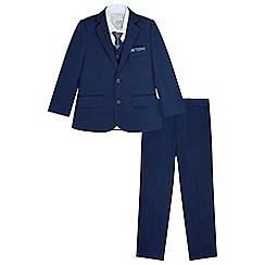Monsoon - Boys' blue Kasper' 5 piece suit set with jacket