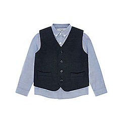 Monsoon - Boys' grey Ruben' waistcoat and shirt set
