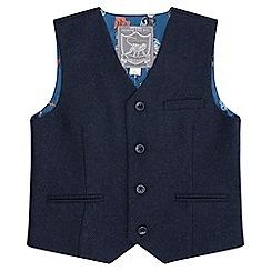 Monsoon - Boys' blue 'Theo' waistcoat