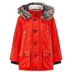 Monsoon - Boys' orange Olly' orange parka coat