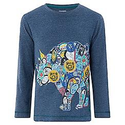 Monsoon - Boys' blue 'Roderick' Rhino long sleeved t-shirt