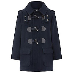 Monsoon - Boys' blue Nicky' navy duffle coat