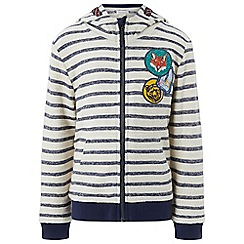 Monsoon - Boys' blue Sydney' stripe zip up hoody