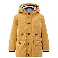 Monsoon - Boys' Matty' mustard parka coat