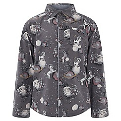 Monsoon - Boys' grey 'Silva' space shirt