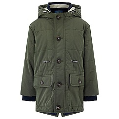 Monsoon - Boys' green Matty Khaki Parka