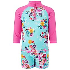 Monsoon - Girls' blue 'Josie' sunsafe surfsuit