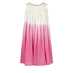 Monsoon - Girls' pink 'Amy' ombré dress