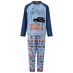 Monsoon - Boys' blue Luca London Jersey PJ