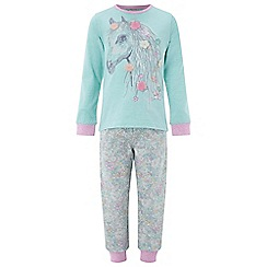 Monsoon - Girls' blue Marsha Horse Jersey PJ