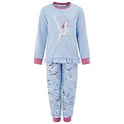 Monsoon - Girls' blue 'Neptune' Unicorn pyjamas