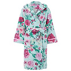 Monsoon - Girls' blue 'Florencia' rose print chunky robe