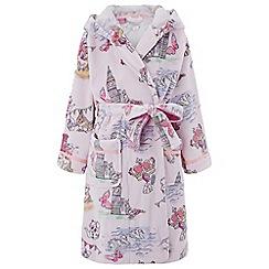 Monsoon - Girls' pink 'Laila' London print chunky robe