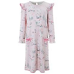 Monsoon - Girls' pink Unicorn print nightdress