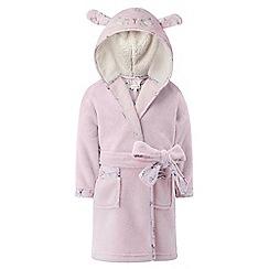 Monsoon - Girls' pink Bunny chunky robe