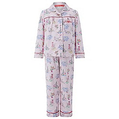 Monsoon - Girls' pink Laila London Print Flannel PJ