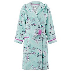 Monsoon - Girls' blue Neptune Unicorn Chunky Robe