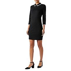 Monsoon - Black Claudie collar ponte shift dress